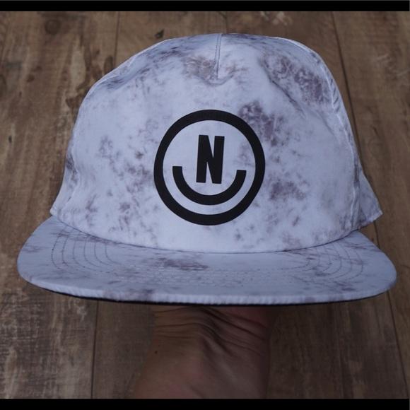 df674e4ef *New* Neff White/Grey/Black Tie Dye Snapback Hat NWT